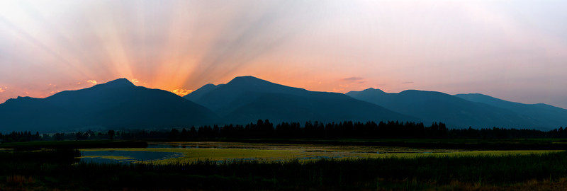 Sunset Over the Bitterroot Mountains, Montana