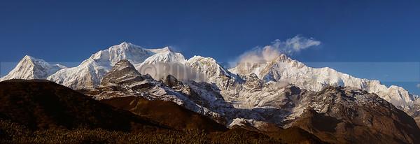 P1:Mt khangchendzonga Range as seen from Deorali Top  while approaching Dzongri on the Goecha la Trek