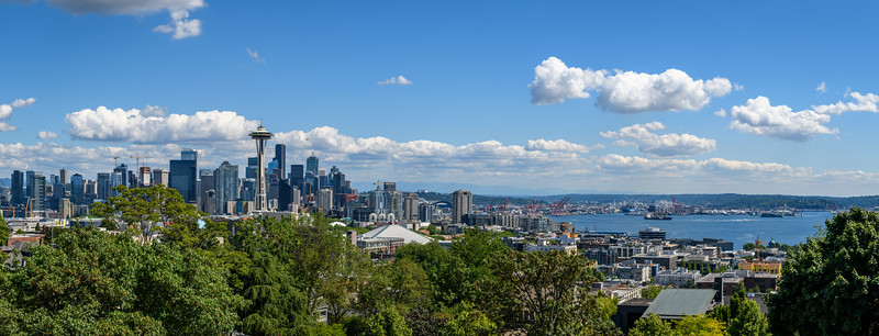 The Seattle Space Needle and skyline from Kerry Park, Seattle, Washington State