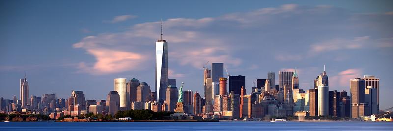 Lower Manhattan viewed from New Jersey - Golden Hour