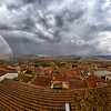 Panorama of the town of Grassano, Italy