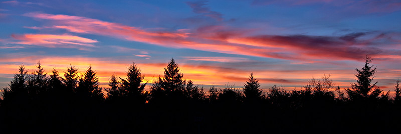 Sunset from the Highland Scenic Highway