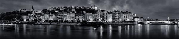 Panorama of Lyon in B/W