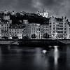 Panorama of Lyon in B/W