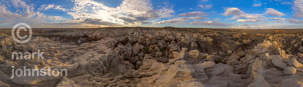 Bisti De Na Zin Wilderness - 360 degrees