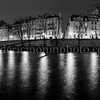 Blue Hour on the islands of Paris in B/W ...