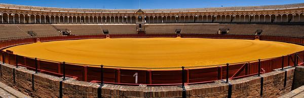 Seville Bullring symmetry ... Andalucia ... Spain