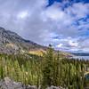 Panorama view of Jenny Lake from the Jenny Lake Loop Trail, Grand Teton National Park near Jackson, Wyoming