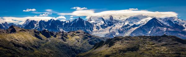 Le Mont-Blanc dans les nuages !!!