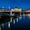 Blue Hour in the University bridge at Lyon  ...