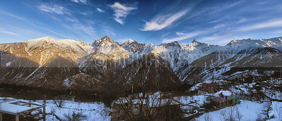 P25:Kinner kailash range as seen from Kalpa during winters, Kinnaur, Himachal Pradesh