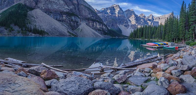 Moraine Lake Panorama, Banff National Park, Alberta, Canada