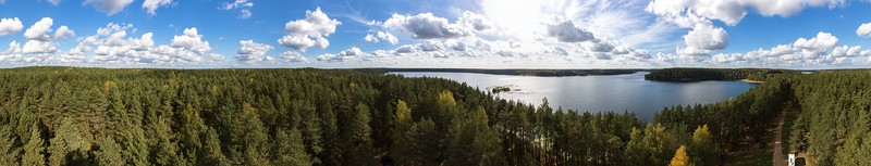 Baltieji Lakajai Lake, Labanoras Observation Tower, 2016-10-01