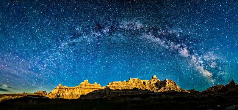 Badlands Under the Milky Way