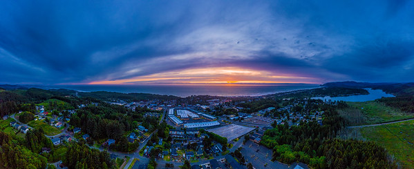 Lincoln City Sunset Pano 2