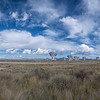 Panorama of the Karl G. Jansky Very Large Array wavelength radio astronomy observatory located in central New Mexico on the Plains of San Agustin near the town Socorro