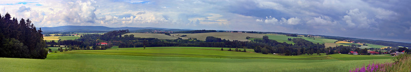 Thunderstorms rolling across the Bavarian countryside near Windischeschenbach, Germany.