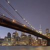 Brooklyn Bridge and Downtown Manhattan, Blue Hour