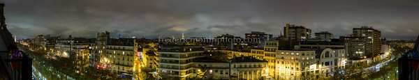 Roofs of Paris by night