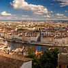 Panorama of Lyon from the terrace of the Antiquaille