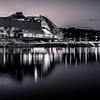 Panorama on Museum of Confluences in B/W