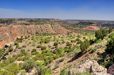 """Polo Dura Canyon State Park, TX. Referred to as the """"Texas Grand Canyon""""."""