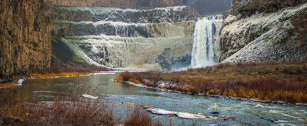 Palouse Falls Winter Panorama 2