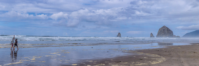 Couple on Cannon Beach, Oregon Coast