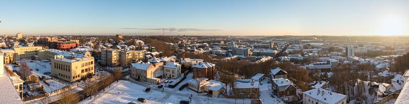 Kaunas Skyline from Lord Jesus Christ's Resurrection Basilica, Southbound, 2016-11-29