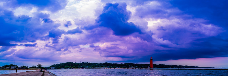 Big Skies Over Grand Haven Panorama - Color