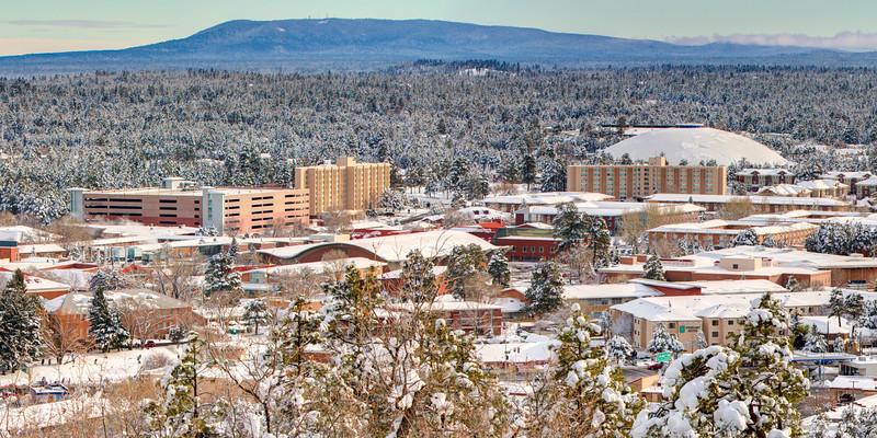 NAU Campus in Winter