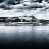Confluence at Lyon in B/W ...