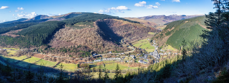 Corris from above