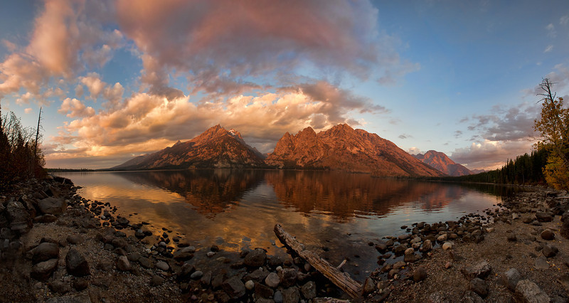 Jenny Lake Sunrise, Grand Teton National Park, Wyoming