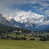 Panorama of Cortina d'Ampezzo, The Dolomites, Italy