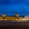 Blue Hour on the Louvre in Paris