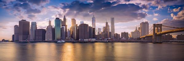 Manhattan Skyline at the Golden Hour