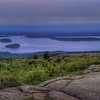 Bar Harbor, ME and the Porcupine Islands from the summit of Mt. Cadillac