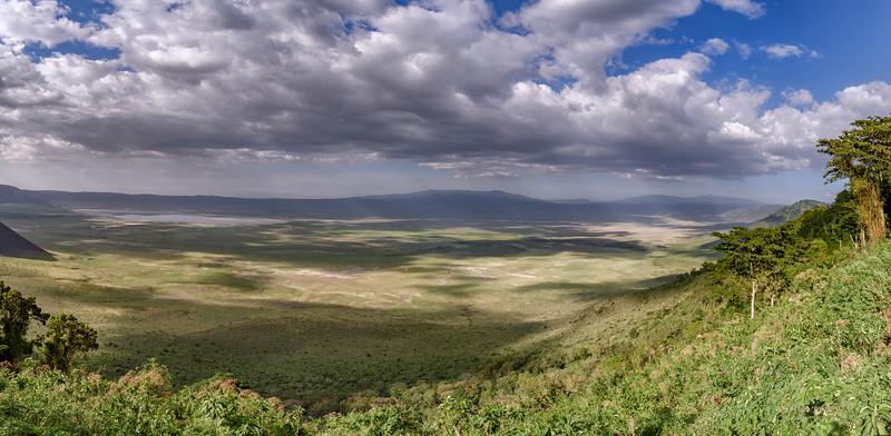 Panoramic view of Ngorongoro Crater, Tanzania, East Africa