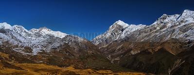 P2:Mt khangchendzonga Range as seen from Deorali Top  while approaching Thansing on the Goecha la Trek