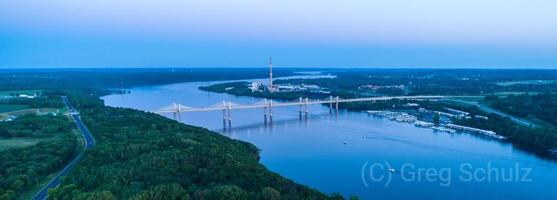 New st croix crossing bridge sunset