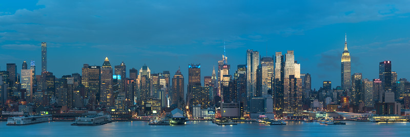 West Side of Manhattan from Weehawken, NJ - Blue Hour