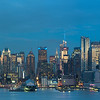 West Side of Manhattan from Weehawken, NJ - Blue Hour