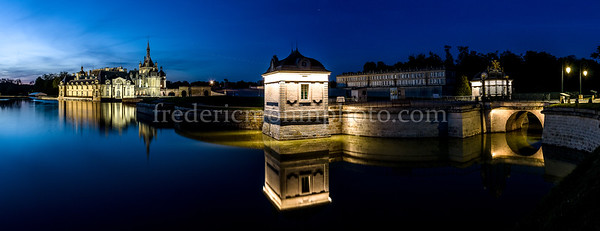 Chantilly Castle by night