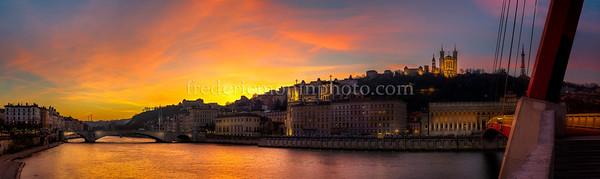 Sunset on Lyon