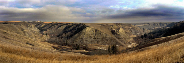Coulee in central Alberta, Canada