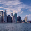 Panorama of Lower Manhattan with the Brooklyn Bridge, the East River and the Manhattan Bridge, Manhattan, New York City