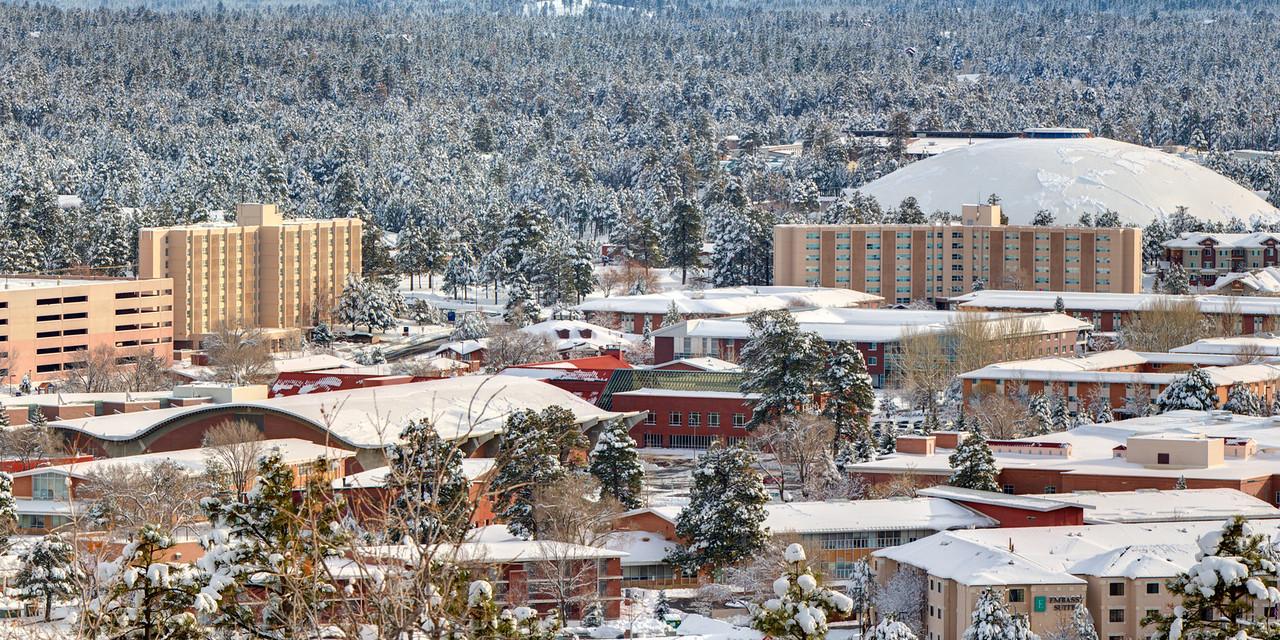 NAU Campus in Winter Close Up