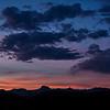 Panorama of sunset in the San Rafael Desert near Wild Horse Butte in Goblin Valley State Park near Hanksville, Utah
