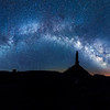 Panorama of the Milky Way over Valley of the Gods near Bluff, Utah